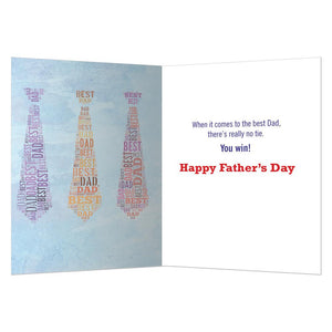 No Tie Dad Father's Day Greeting Card 4 pack