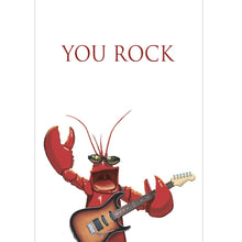 Load image into Gallery viewer, Rock Lobster Thank You Greeting Card 6 pack