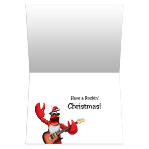 Rock Lobster Christmas Christmas Greeting Card 4 pack