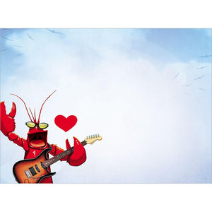 Rock Lobster Valentine Valentine's Day Greeting Card