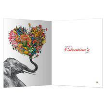 Load image into Gallery viewer, Love Elephant Valentine Valentine's Day Greeting Card 4 pack