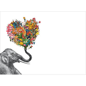 Love Elephant Valentine Valentine's Day Greeting Card 4 pack