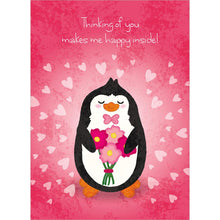 Load image into Gallery viewer, Cute Penguin Valentine Valentine's Day Greeting Card
