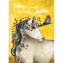 Load image into Gallery viewer, Believe In Yourself Unicorn Encouragement Greeting Card 6 pack