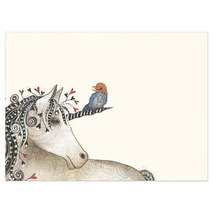 Believe In Yourself Unicorn Encouragement Greeting Card 6 pack