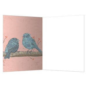 Sweet Bluebirds Friendship Greeting Card 6 pack