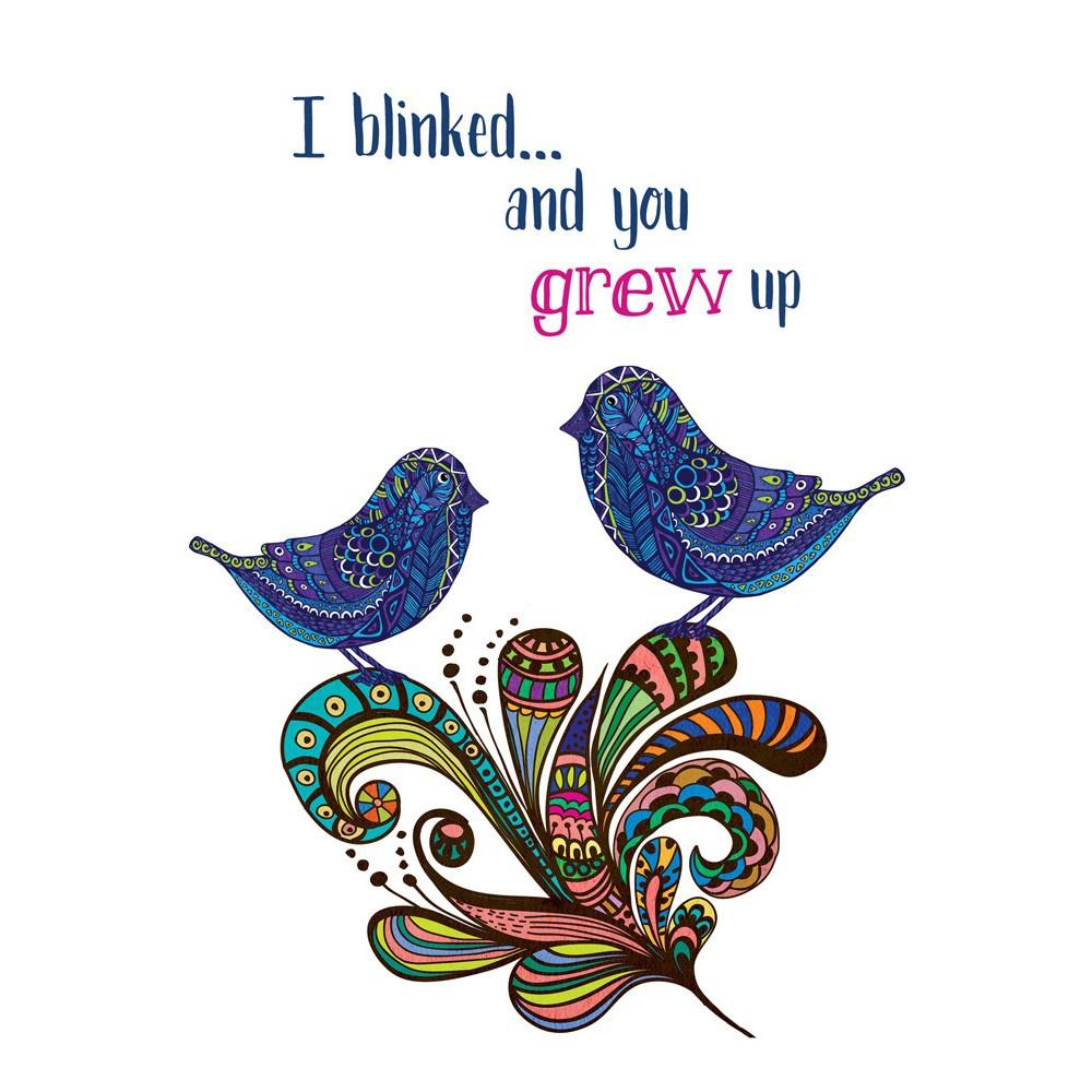 Blink And Grow Birthday Greeting Card 6 pack