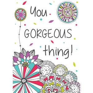 You Gorgeous Thing Birthday Greeting Card 6 pack