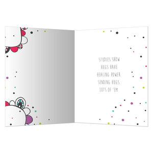 Hugs For You Get Well Greeting Card 6 pack