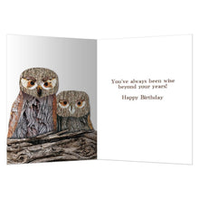 Load image into Gallery viewer, Wisdom Owls Birthday Greeting Card 6 pack