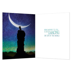 Top Of The World Anniversary Greeting Card 6 pack