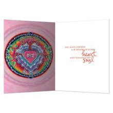Load image into Gallery viewer, Window To The Heart Mandala Love Greeting Card 6 pack