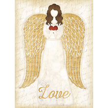 Load image into Gallery viewer, Christmas Angel Christmas Greeting Card 4 pack