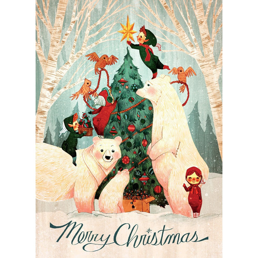 Christmas Laughter Christmas Greeting Card 4 pack