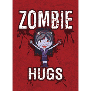 Zombie Hugs Halloween Greeting Card 4 pack