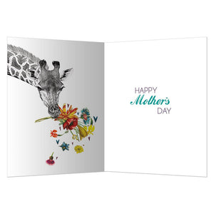 Giraffe Mother's Day Mother's Day Greeting Card 4 pack