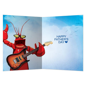 Dad Rocks Father's Day Greeting Card 4 pack