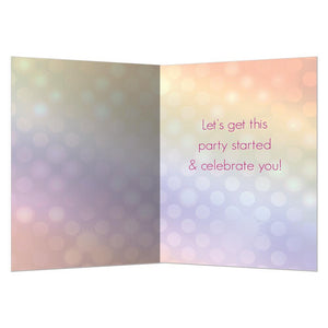 Disco Dog Graduation Greeting Card 4 Pack