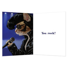 Load image into Gallery viewer, Elvis Cat All Occasion Greeting Card 6 pack