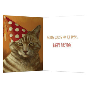 Not For Pussies Birthday Greeting Card 6 pack