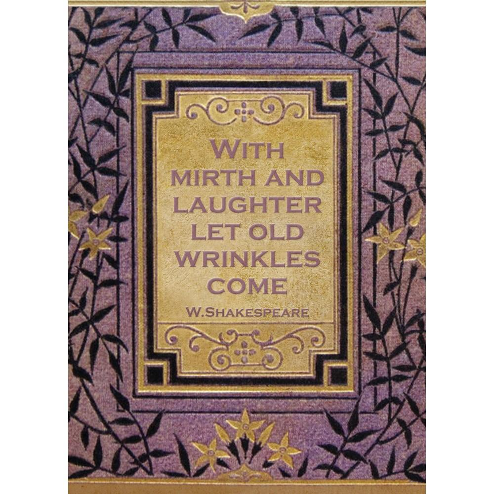 Mirth And Laughter Birthday Greeting Card 6 pack