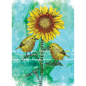 Happy Happy Birthday Greeting Card 6 pack