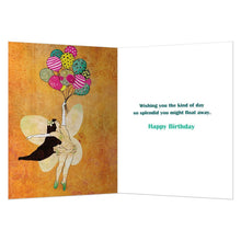 Load image into Gallery viewer, Fairy Balloons Birthday Greeting Card 6 pack
