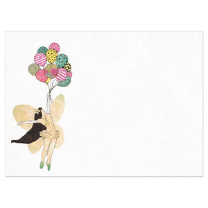 Fairy Balloons Birthday Greeting Card 6 pack