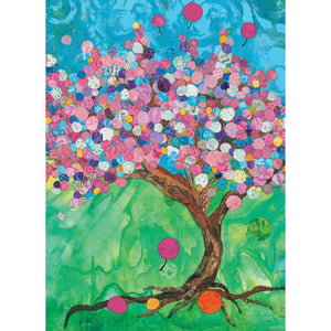 Balloon Tree Birthday Greeting Card 6 pack