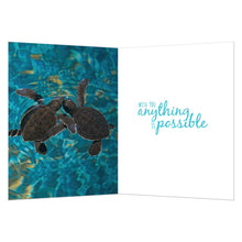 Load image into Gallery viewer, Sea Turtle Pals Friendship Greeting Card 6 pack