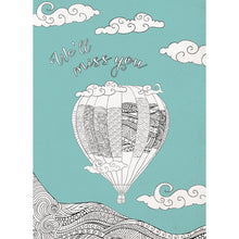Load image into Gallery viewer, Balloon Farewell Farewell Greeting Card 6 pack