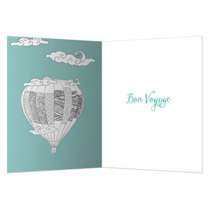 Balloon Farewell Farewell Greeting Card 6 pack