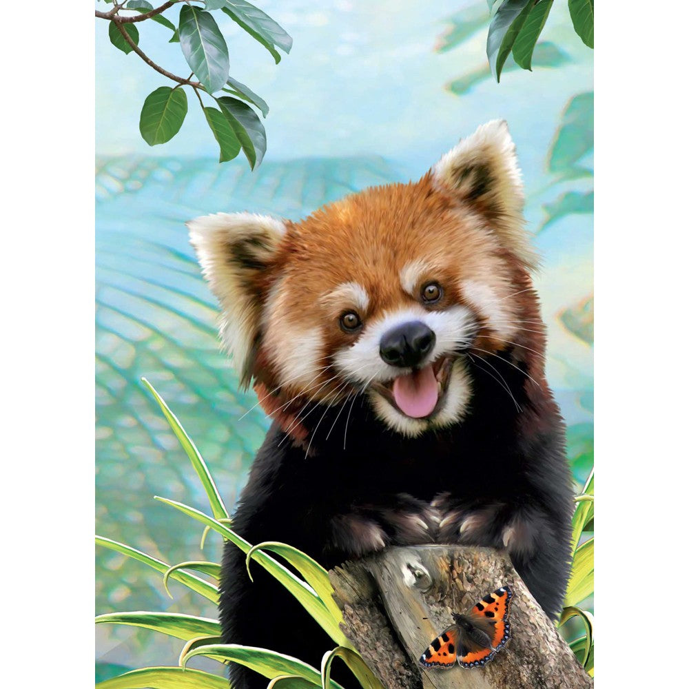 Red Panda Selfie All Occasion Greeting Card 6 pack