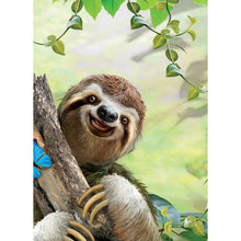 Load image into Gallery viewer, Sloth Selfie All Occasion Greeting Card 6 pack