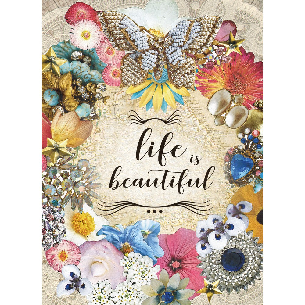 Life Is Beautiful All Occasion Greeting Card 6 pack