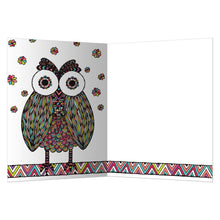 Load image into Gallery viewer, Vibrant Owl All Occasion Greeting Card 6 pack