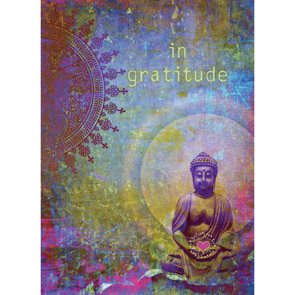 Gratitude Buddha Thank You Greeting Card 6 pack