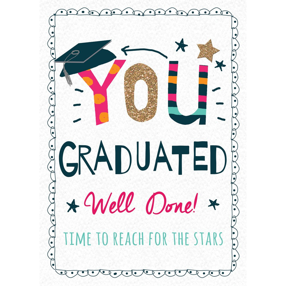 Well Done Grad Graduation Greeting Card 4 pack