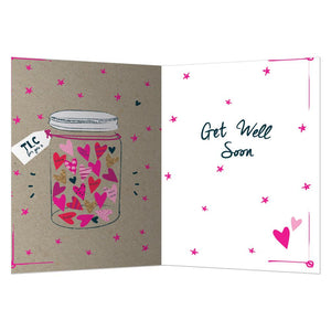 Tlc Rx Get Well Greeting Card 6 pack