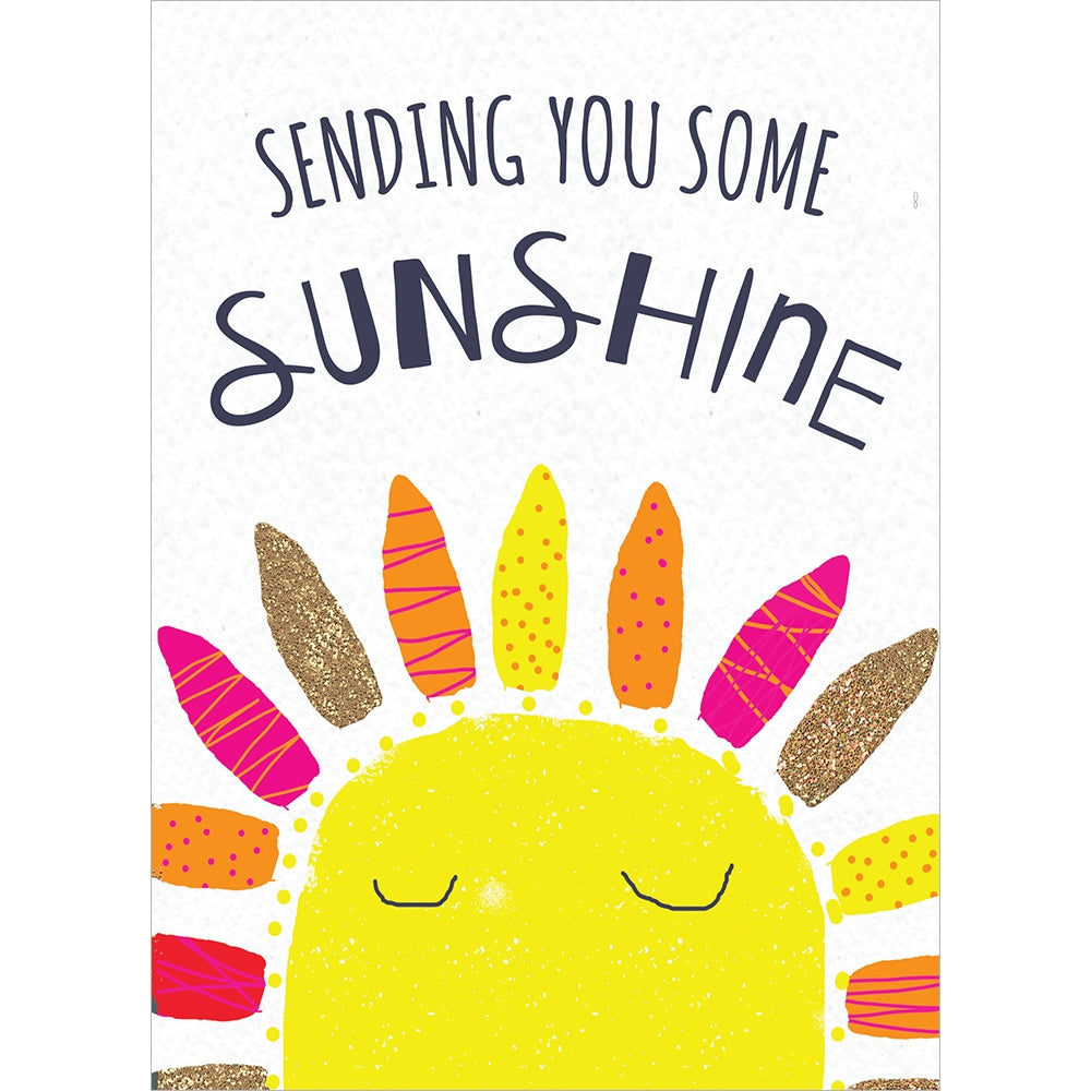 Sending Sunshine All Occasion Greeting Card 6 pack