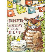 Load image into Gallery viewer, Real Hoot Birthday Greeting Card 6 pack
