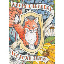 Load image into Gallery viewer, Foxy Birthday Birthday Greeting Card 6 pack