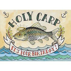 Holy Carp Birthday Greeting Card 6 pack