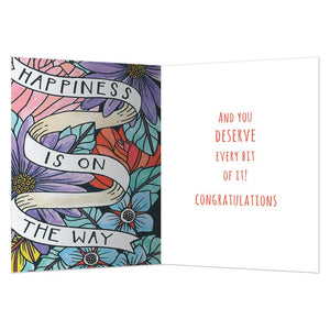 On The Way Congratulations Greeting Card 6 pack