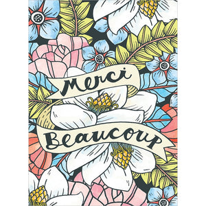 Merci Beaucoup Thank You Greeting Card 6 pack