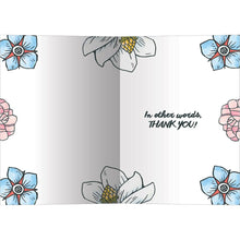 Load image into Gallery viewer, Merci Beaucoup Thank You Greeting Card 6 pack