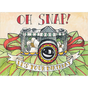 Oh Snap Birthday Greeting Card 6 pack