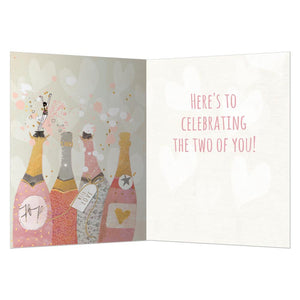 Champagne Wishes Anniversary Greeting Card 6 pack