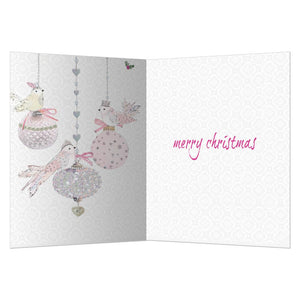 Christmas Ornamental Christmas Greeting Card 4 pack