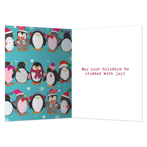 Crowded With Joy Christmas Greeting Card 4 pack